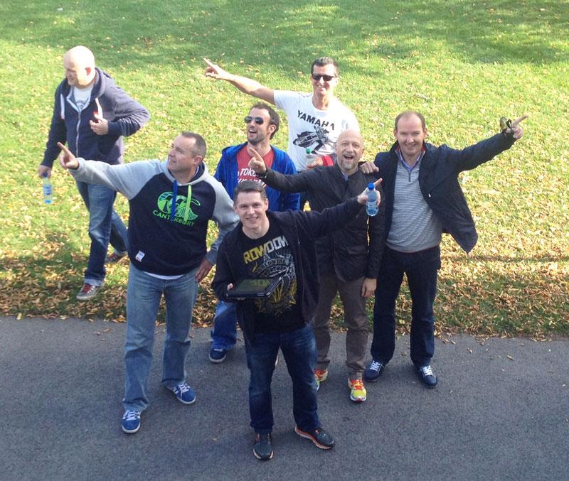 Delegates posing for a photo during Go Team Dublin Zoo treasure hunt