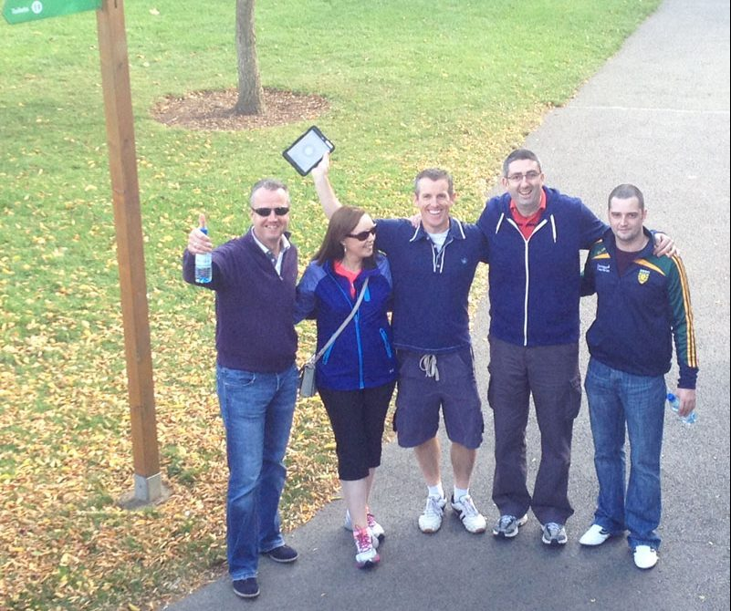 Team smiling for photo during Go Team Dublin Zoo