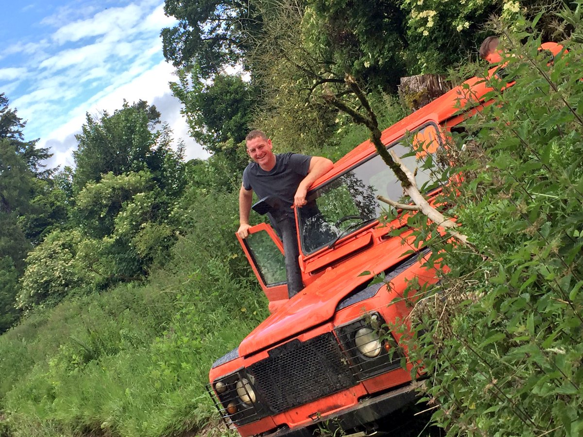 A happy delegate after completing his 4x4 off road driving course with Orangeworks.