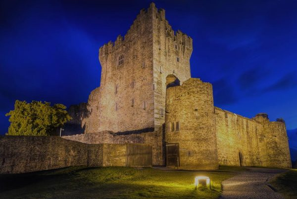 15th Century Ross castle at night, Co. Kerry - Ireland