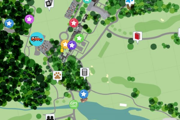 iPad map of Carton House with key checkpoints marked