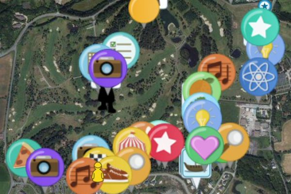 Go Team map of Druids Glen grounds with checkpoints