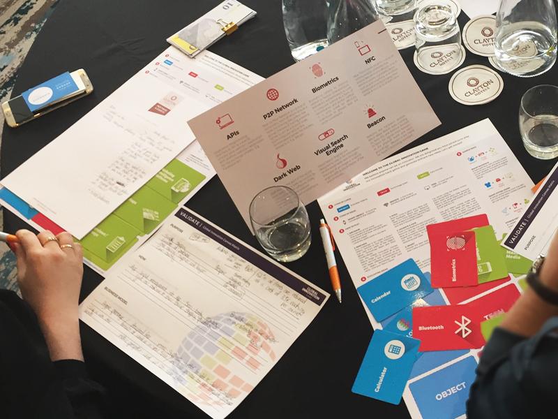 Delegates playing Global Innovation Game at Orangeworks Team Development Showcase