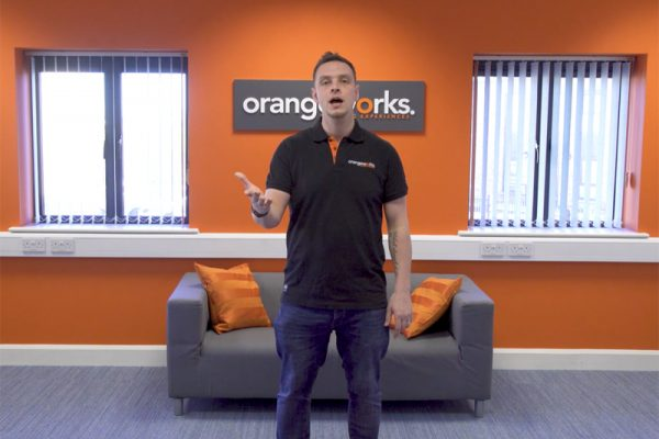 Dean, the beatboxing guy at Orangeworks, practising his beatboxing skills for our icebreaker energiser events.