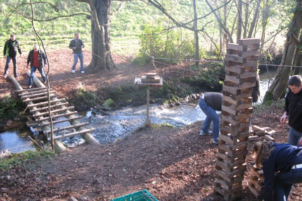 Bridge Building team building event at Carton House
