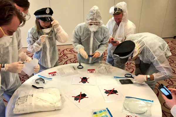 Delegates collect all the evidence they come across at the crime scene.