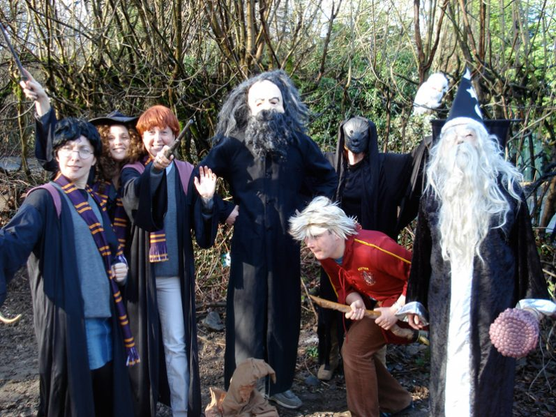 Delegates dressed up as Harry Potter characters for Fifteen Famous Minutes, a movie-style team building activity.