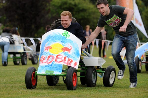 Delegates racing their Thunder Races kart