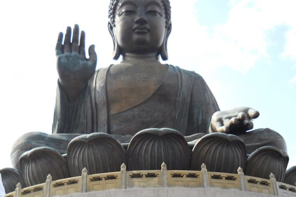 Buddha statue during Travel Show team building event