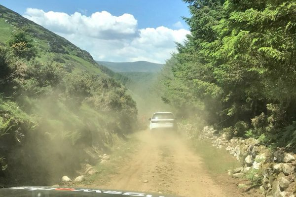 Building a Bespoke Adventure driving through the Wicklow mountains