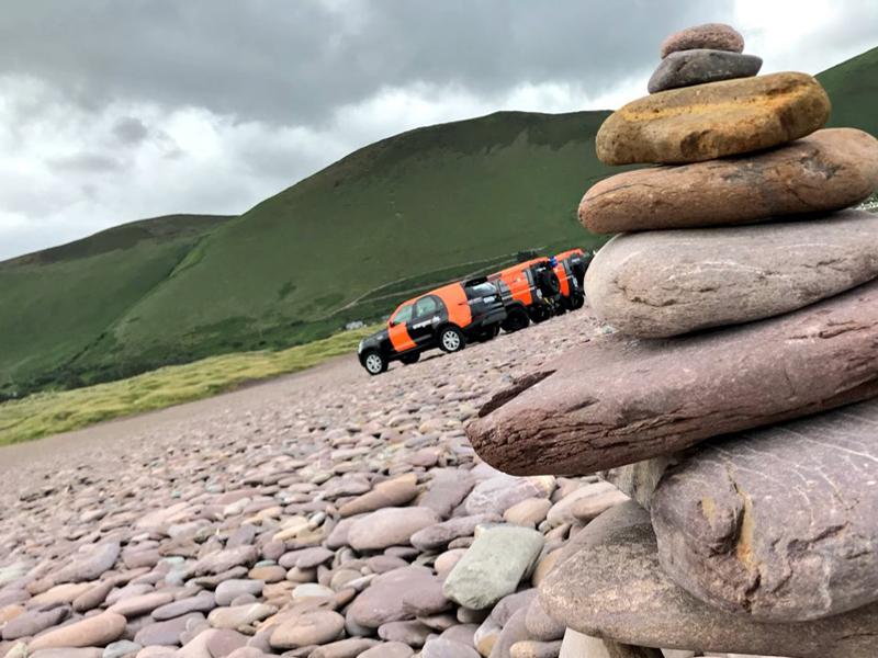 Orangeworks vehicles in Killarney on a treasure hunt