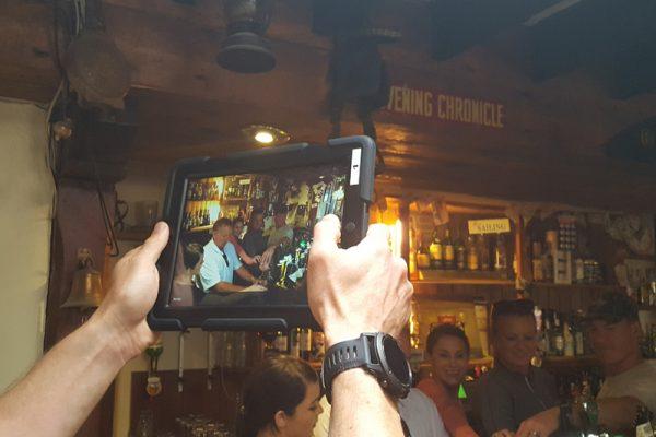 Team taking a picture in a Killarney pub