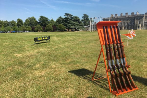 Laser Clay Pigeon Shooting set up at Carton House
