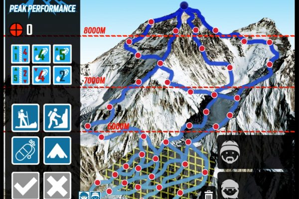Peak Performance game play screen