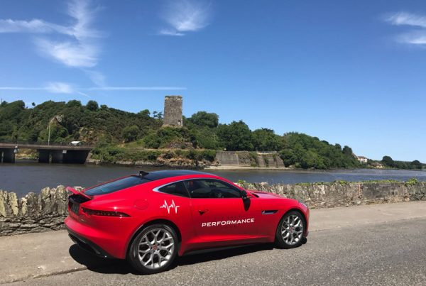 Red Jaguar F-Type in Wexford, Ireland