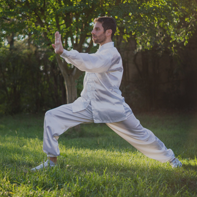 Tai Chi outdoors with Orangeworks