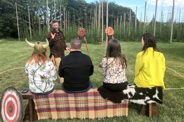 Axe Throwing during Wicklow Discovery Challenge