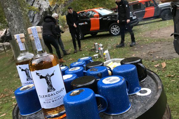 Glendalough whiskey tasting at Powerscourt Waterfall