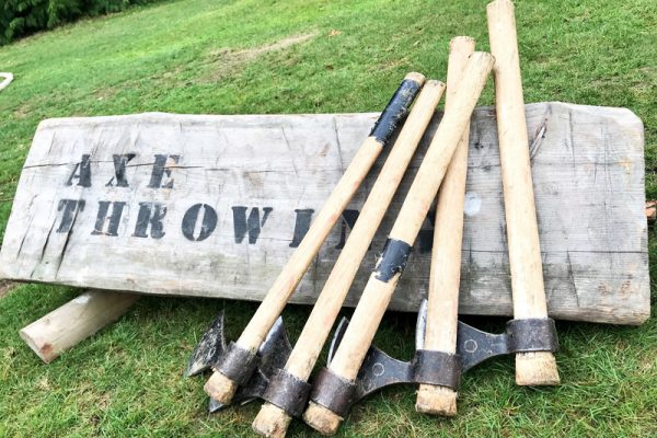 Axe Throwing during Wild Atlantic Discovery Challenge