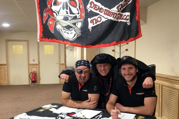 Pirates during Trade Winds negotiation team building activity