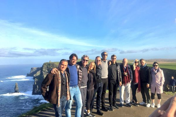 Group shot at the Cliffs of Moher during Wild Atlantic Discovery Challenge