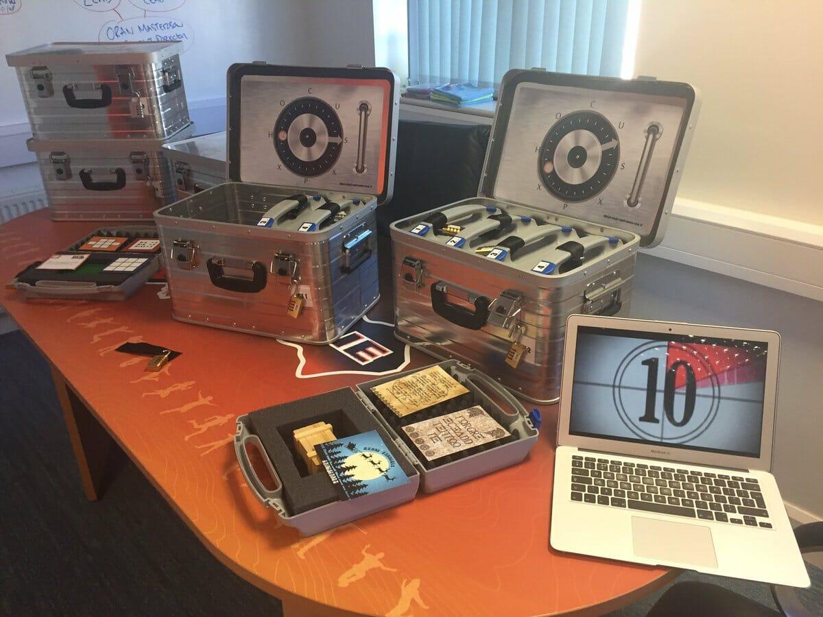 Beat the Box equipment used during Orangeworks team building experiences.