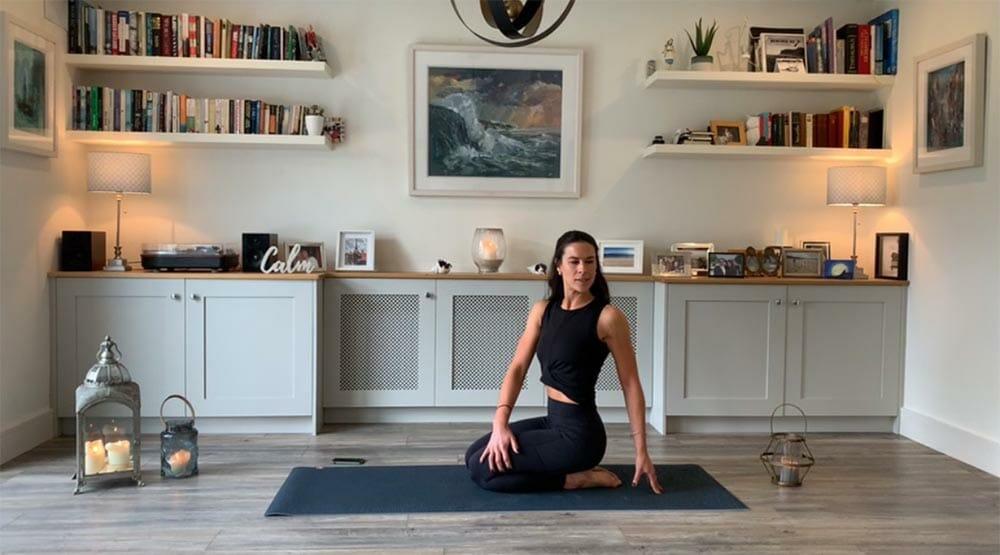 The Brain Break yoga pose